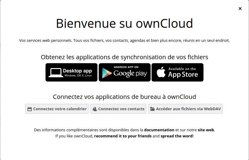 """Bienvenue """"su"""" OwnCloud ? :)"""